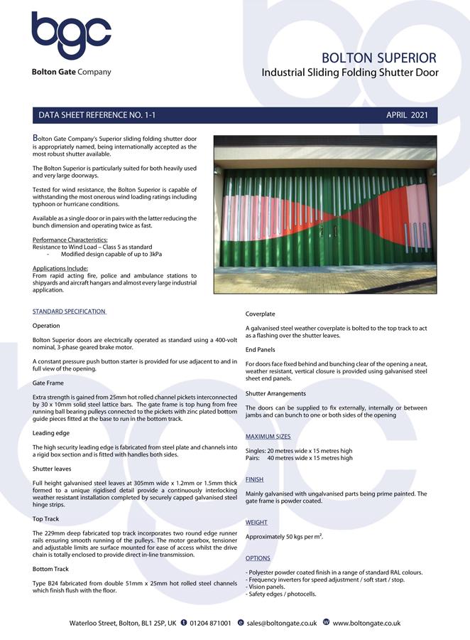 Bolton Superior Brochure