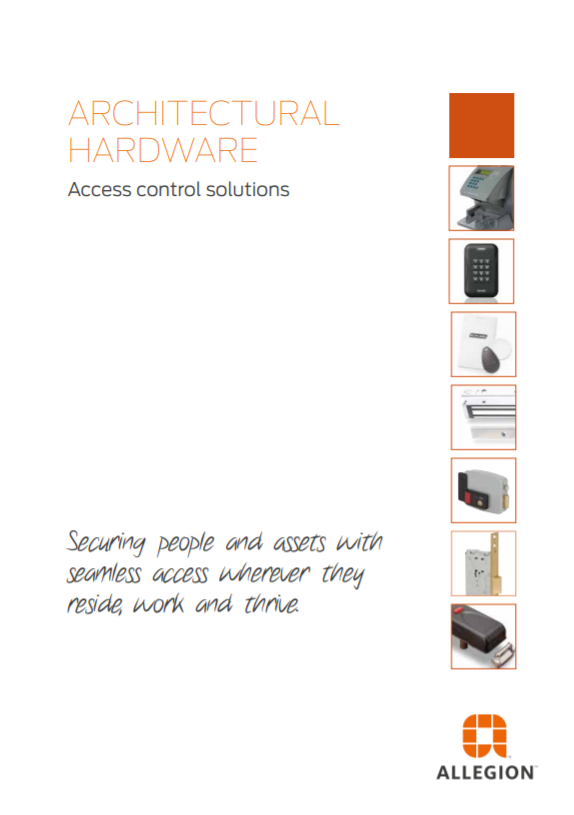 Architectural Hardware Access control solutions Brochure