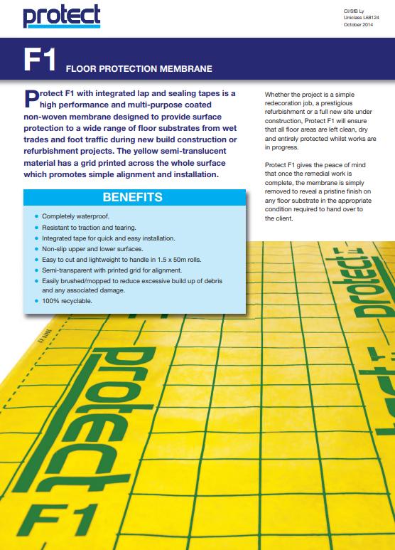 F1 FLOOR PROTECTION MEMBRANE Brochure