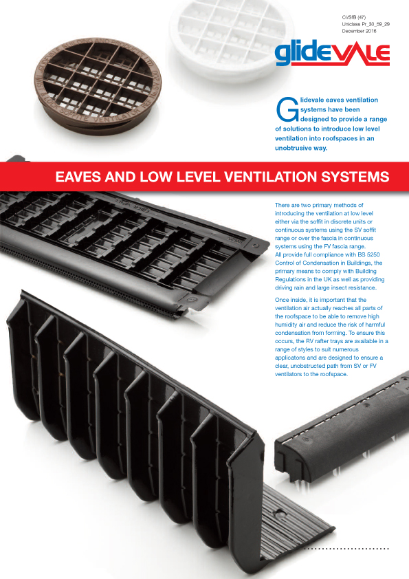 Eaves and Low Level Ventilation Systems – Roofspace ventilation                      Brochure