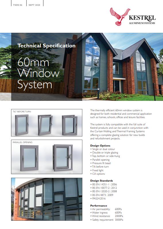 60mm Window System Datasheet Brochure