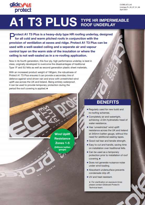 Protect A1 T3 Type HR Underlay Brochure