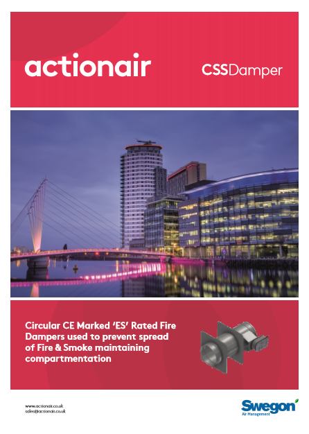 Actionair ES Rated Circular Fire/Smoke Damper (CE Marked) Brochure