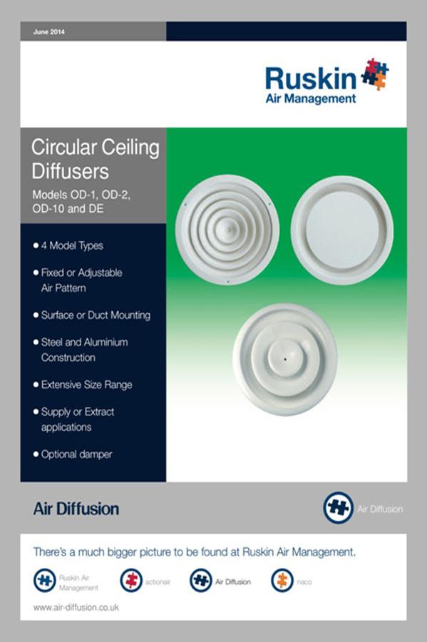 Air Diffusion Circular Ceiling Diffusers Brochure