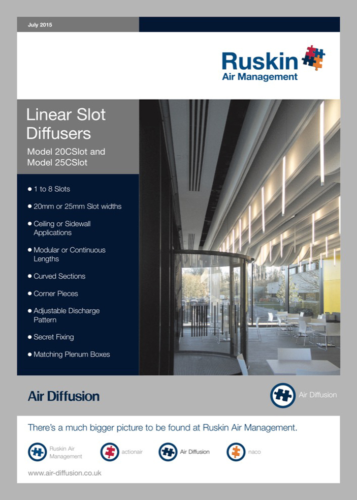 Air Diffusion Linear Slot Diffuser Brochure