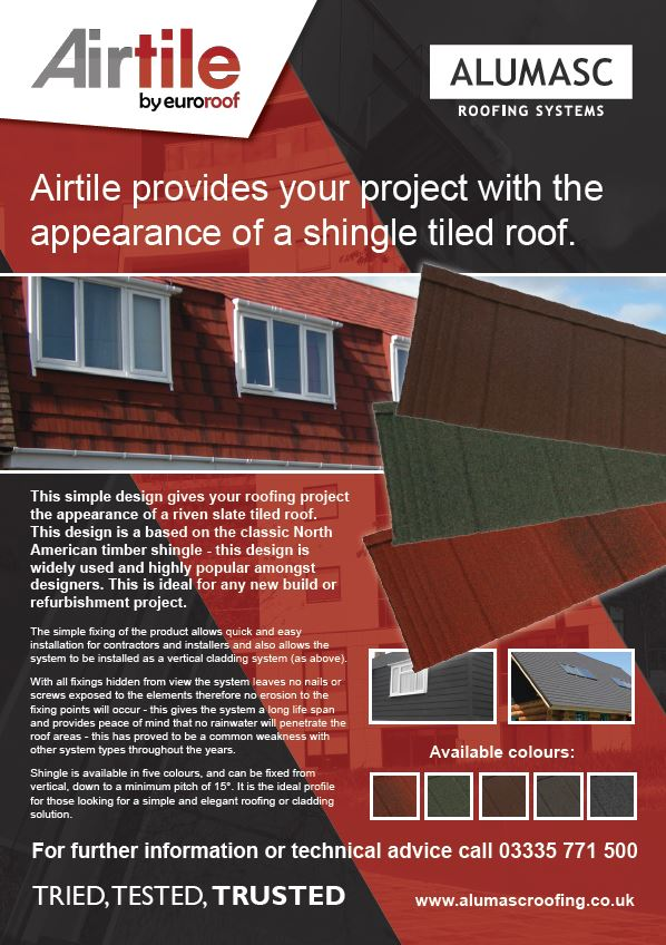 Airtile Lightweight Pitched Roof Shingle Tiles Brochure