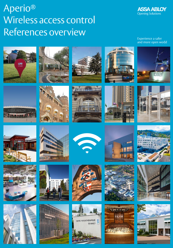 Aperio® Wireless access control  References overview Brochure