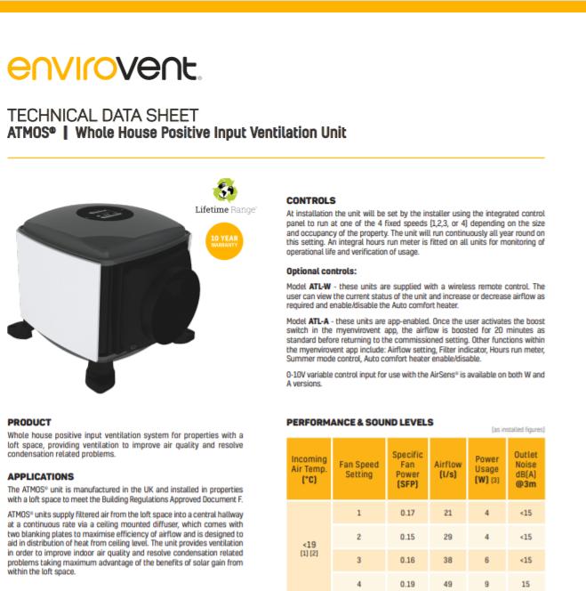 Technical Data Sheet ATMOS® Brochure