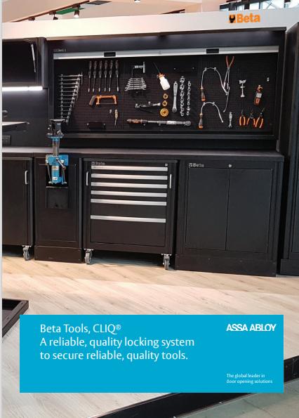 Beta Tools, CLIQ® A reliable, quality locking system  to secure reliable, quality tools.  Brochure