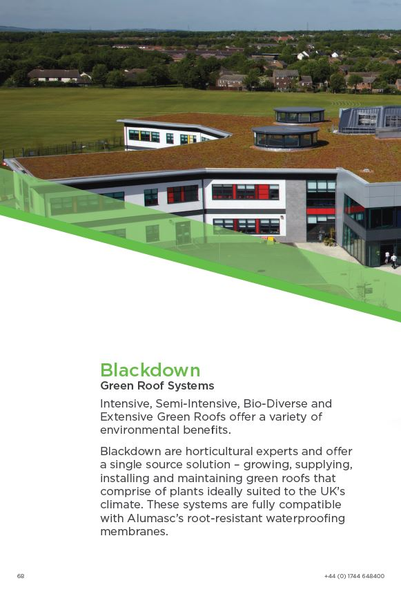 Blackdown Green Roof Brochure 2015 Brochure