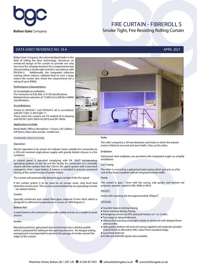 Fire Curtain – Fibreroll S Brochure