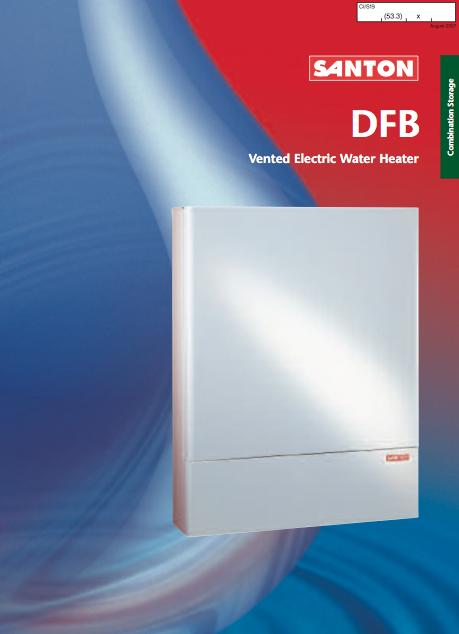 Santon DFB Vented Electric Water Heater Brochure