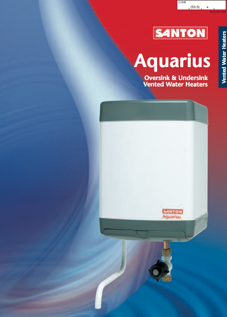 Santon Aquarius Oversink & Undersink Vented Water Heaters Brochure