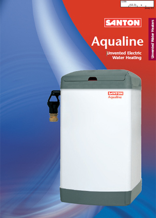Santon Aqualine unvented Electric Water Heating Brochure