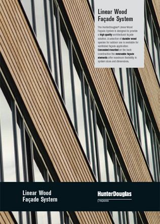 Linear Wood Facade System Brochure