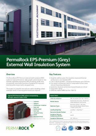 PermaRock EPS-Premium (Grey) External Wall Insulation System Brochure