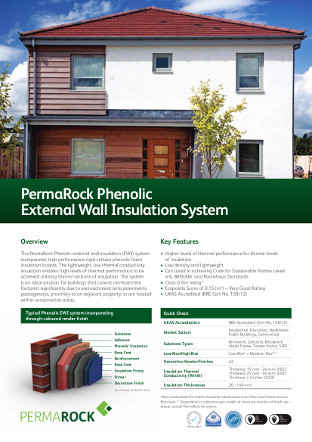 PermaRock Phenolic External Wall Insulation System Brochure