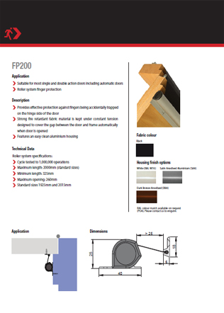 Finger protection device FP200 Brochure