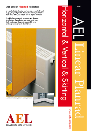 AEL Linear PlanRad Radiators Horizontal & Vertical & Skirting Brochure