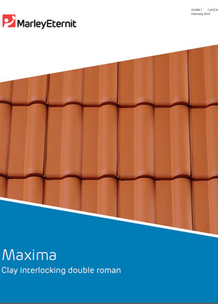 Maxima - Clay interlocking double roman Brochure