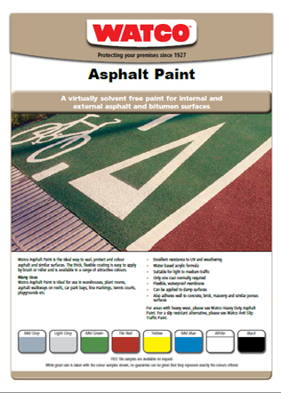 Asphalt Paint Brochure