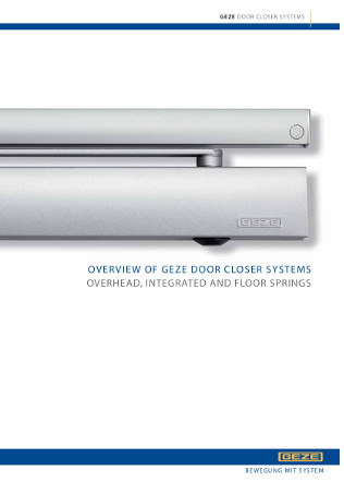 Overview of GEZE door closer systems Brochure