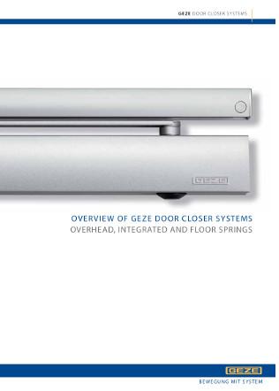 Overview of GEZE door closer systems Brochure