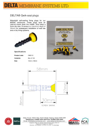 DELTA® Qwik-seal plugs Brochure