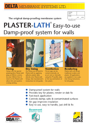 DELTA® PlasterLath — ~7mm meshed Brochure