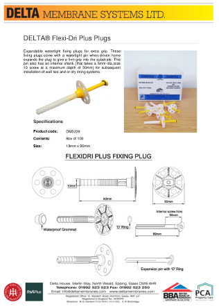 DELTA® FlexiDri Plugs Brochure