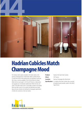 Hadrian Cubicles Match Champagne Mood Brochure