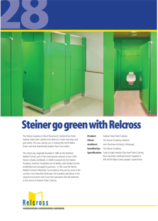 Steiner go green with Relcross Brochure