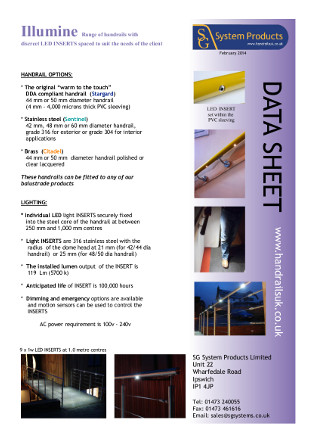 Illumine data sheet Brochure