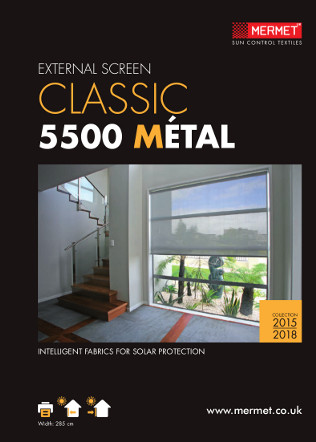 EXTERNAL SCREEN CLASSIC 5500 MÉTAL Brochure