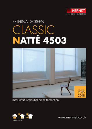 EXTERNAL SCREEN CLASSIC NATTÉ 4503 Brochure