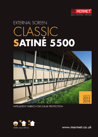 EXTERNAL SCREEN CLASSIC SATINÉ 5500 Brochure