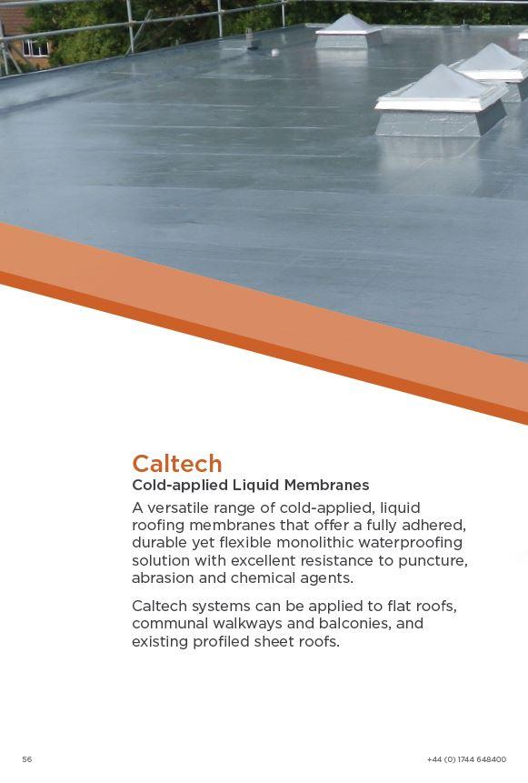 Caltech Cold-Applied Liquid Roofing Brochure 2015 Brochure