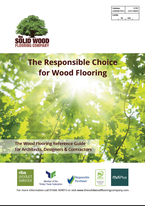 Solid wood flooring company Brochure