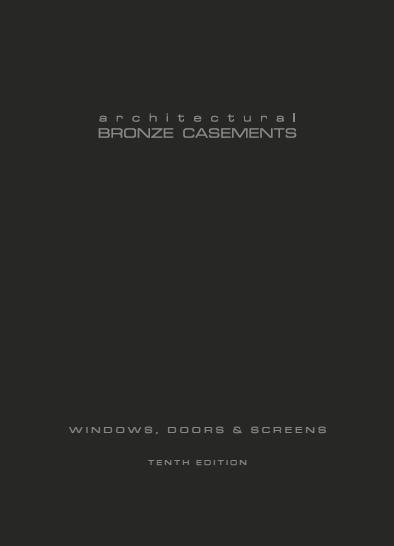 Bronze Windows, Doors and Screens Brochure