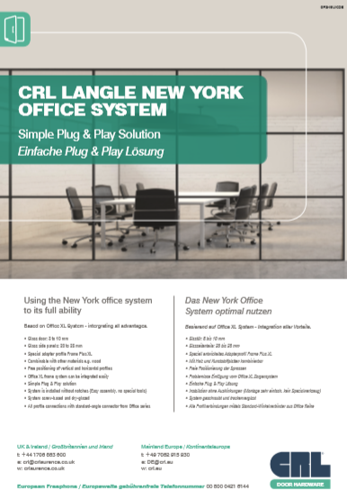 CRL LANGLE NEW YORK OFFICE SYSTEM Brochure