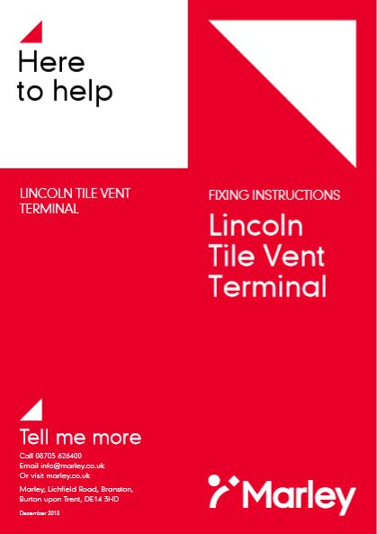 Lincoln Tile Vent Terminal Brochure