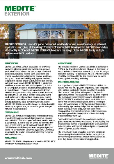 MEDITE Exterior Brochure