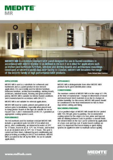 MEDITE MR Brochure