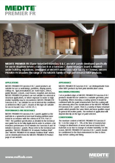 MEDITE PREMIER FR Brochure