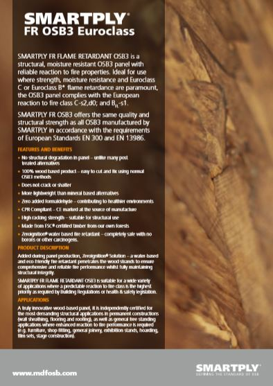 SMARTPLY FR OSB3 Euroclass Brochure