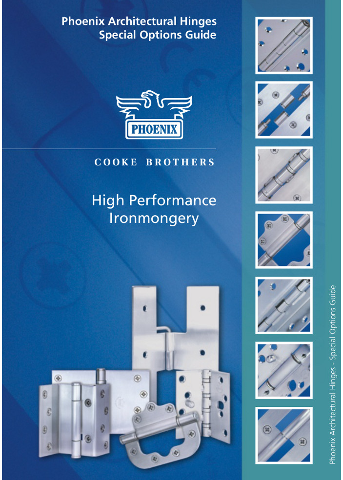 Cooke Brothers - High Performance Ironmongery Brochure