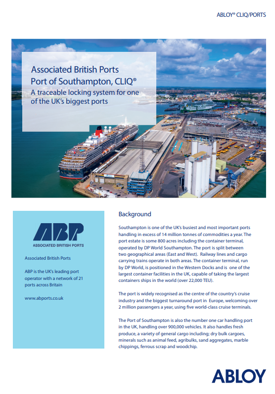 CLIQ® A traceable locking system for one  of the UK's biggest ports  Brochure