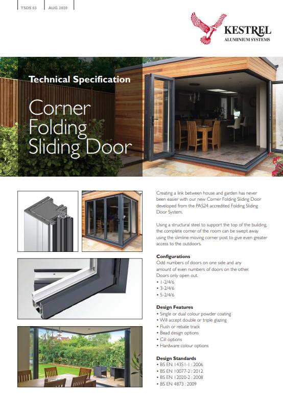 Corner Folding Sliding Door Datasheet Brochure