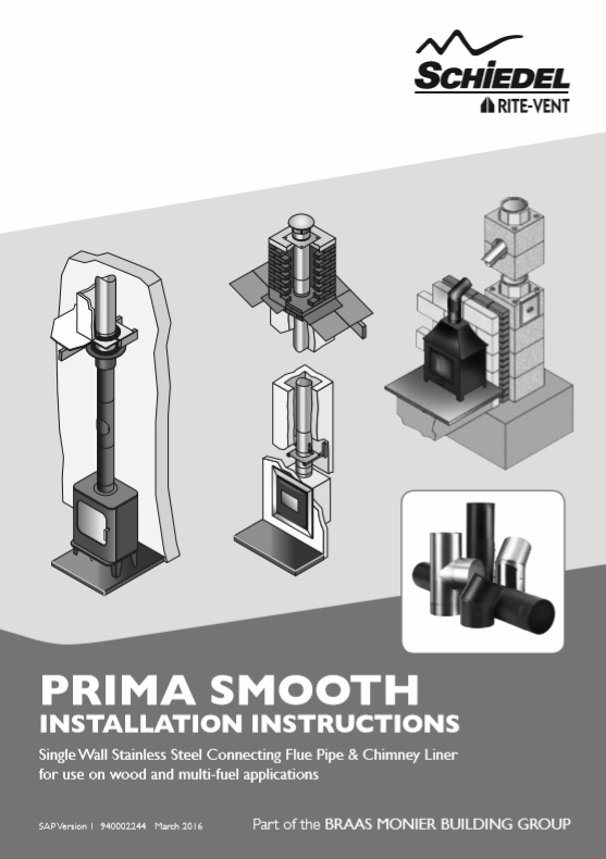 Prima Smooth Installation Instructions Brochure