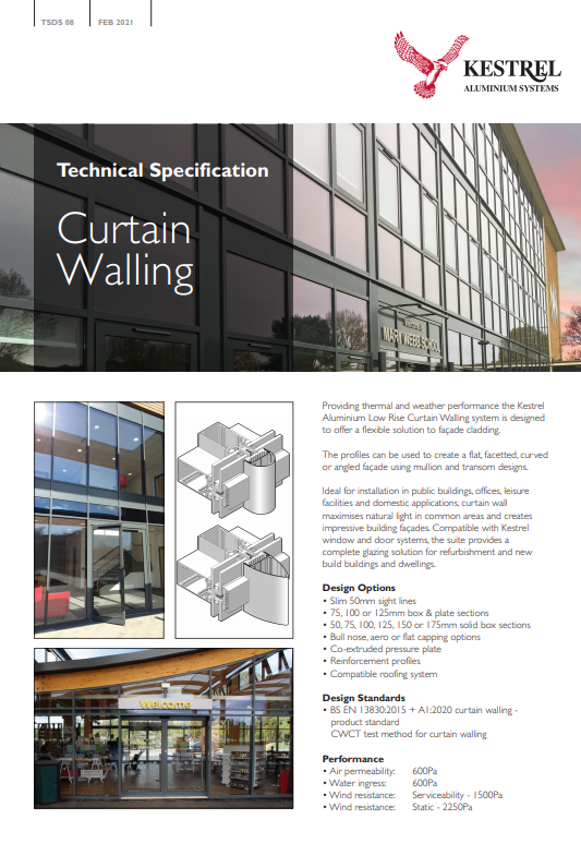 Curtain Walling Datasheet Brochure